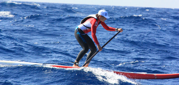 Annabel Anderson SUP Stand Up Paddle Crossing Ibiza Spain