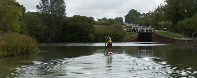 Charlie Grey paddling Britain from Coast to Coast