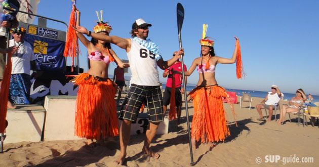 Eric Terrien, Winner of the 25k SUP Golden Island Race, Hyeres