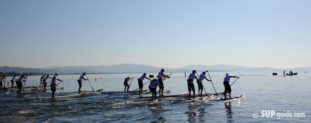 start of 25k SUP race hyeres