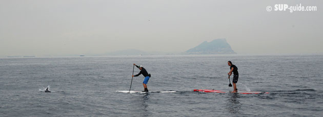 SUP Crossing the Strait of Gibraltar