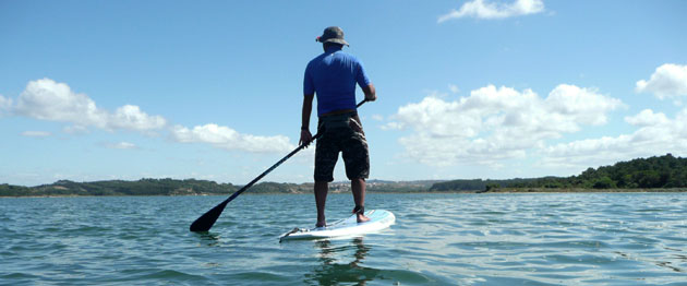 Stand Up Paddling (SUP) in Obidos Lagoon