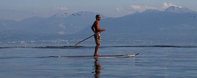 SUP day at Lac Leman Switzerland