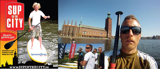 07/2011 SUP in the City Rennen in Schweden
