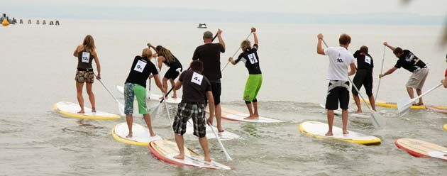 Team SUP Race beim Austrian SUP Worldcup